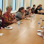 LIBRAS members eating lunch