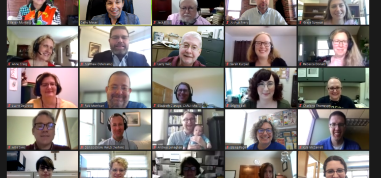 Screenshot of Zoom attendees at the 2021 LIBRAS Annual Meeting
